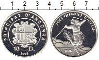 Изображение Монеты Андорра 10 динерс 2005 Серебро Proof XX Олимпийские зимни