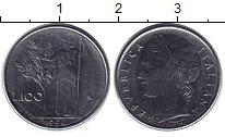 Изображение Монеты Италия 100 лир 1990 Медно-никель XF