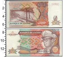 Изображение Банкноты Заир 500 заир 0  UNC