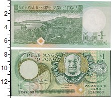 Изображение Банкноты Австралия и Океания Тонга 1 паанга 0  UNC