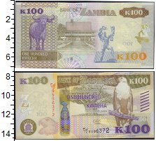 Изображение Банкноты Африка Замбия 100 квач 2015  UNC
