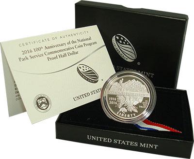 Изображение Подарочные монеты Северная Америка США Служба национальных парков 2016 Медно-никель Proof