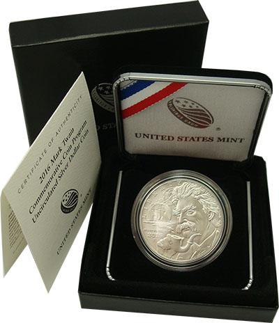 Изображение Подарочные монеты Северная Америка США 1 доллар 2016 Серебро UNC