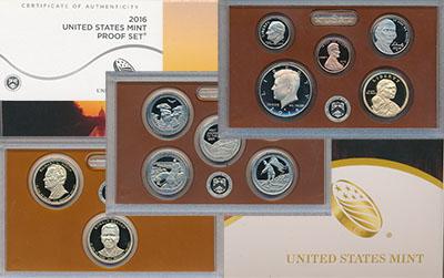 Изображение Подарочные монеты Северная Америка США Набор 2016 года 2016  Proof