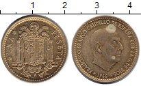 Изображение Дешевые монеты Европа Испания 1 песета 1966 Медь XF