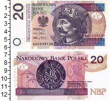 Изображение Банкноты Польша 20 злотых 2012  UNC