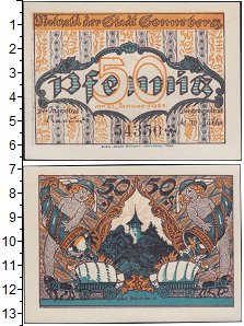 Изображение Банкноты Германия : Нотгельды 50 пфеннигов 1921  XF Выпуск 21 января 192
