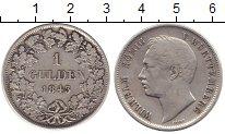 Изображение Монеты Вюртемберг 1 гульден 1843 Серебро XF-