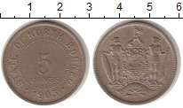 Изображение Монеты Великобритания Борнео 5 центов 1903 Медно-никель XF