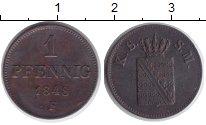 Изображение Монеты Саксония 1 пфенниг 1848 Медь XF