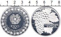Изображение Монеты Армения 1000 драм 2007 Серебро Proof
