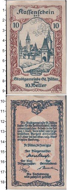 Изображение Мелочь Германия : Нотгельды 10 геллеров 1920  XF