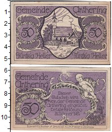 Изображение Банкноты Германия : Нотгельды 50 геллеров 1921  XF