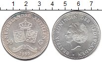 Изображение Монеты Европа Нидерланды 50 гульденов 1980 Серебро UNC