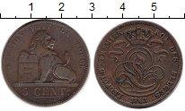 Изображение Монеты Бельгия 5 центов 1848 Медь XF Леопольд I.
