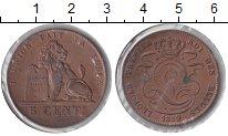 Изображение Монеты Бельгия 5 центов 1859 Медь XF Король Леопольд.