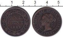 Изображение Монеты Северная Америка Канада 1 цент 1882 Медь VF
