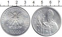 Изображение Мелочь Польша 10000 злотых 1987 Серебро UNC Понтифик Иоанн Павел