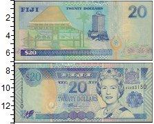 Изображение Банкноты Фиджи 20 долларов 0  UNC
