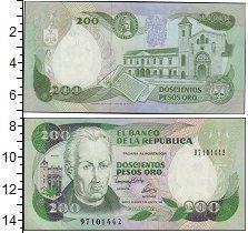Изображение Банкноты Южная Америка Колумбия 200 песо 0  UNC