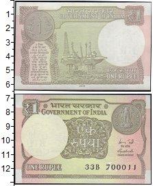 Изображение Банкноты Индия 1 рупия 2015  UNC