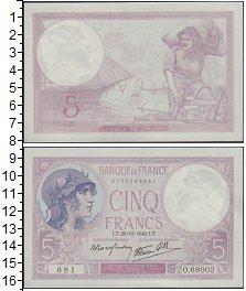 Изображение Банкноты Европа Франция 5 франков 1940  UNC-
