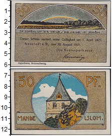 Изображение Банкноты Германия : Нотгельды 50 пфеннигов 1921  XF Выпуск 20 августа 19