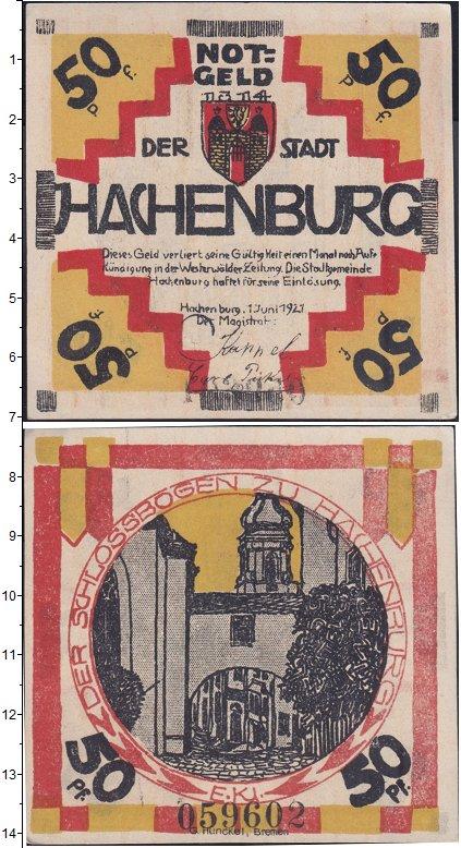 Изображение Банкноты Германия : Нотгельды 50 пфеннигов 1921  XF Выпуск 1 июня 1921 г