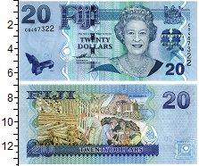 Изображение Банкноты Фиджи 20 долларов 0  UNC Портрет королевы. Ра