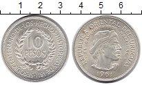 Изображение Монеты Южная Америка Уругвай 10 песо 1961 Серебро UNC-