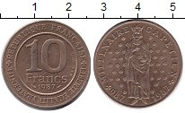 Изображение Монеты Европа Франция 10 франков 1987 Медь XF