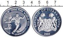 Изображение Монеты Сьерра-Леоне 10 долларов 2004 Серебро Proof-