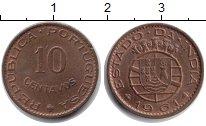 Изображение Монеты Португальская Индия 10 сентаво 1961 Медь XF