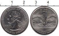 Изображение Мелочь США 1/4 доллара 2007 Медно-никель UNC- D. Юта 1896