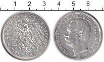Изображение Монеты Германия Баден 3 марки 1909 Серебро XF