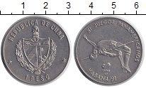 Изображение Монеты Куба 1 песо 1990 Медно-никель XF XI Панамериканские И