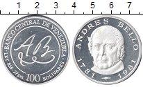 Изображение Монеты Венесуэла 100 боливар 1981 Серебро Proof
