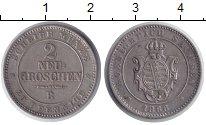 Изображение Монеты Германия Саксония 2 гроша 1866 Серебро XF