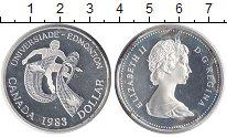 Изображение Монеты Северная Америка Канада 1 доллар 1983 Серебро UNC