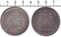 Изображение Монеты Европа Франция 5 франков 1873 Серебро XF