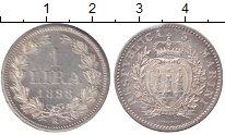 Изображение Монеты Сан-Марино 1 лира 1898 Серебро UNC-