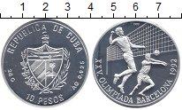Изображение Монеты Северная Америка Куба 10 песо 1990 Серебро Proof