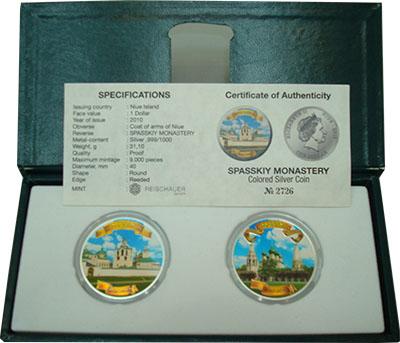 Изображение Подарочные монеты Новая Зеландия Ниуэ 1000-летие Ярославля 2010 Серебро Proof