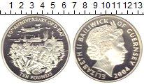 Изображение Монеты Гернси 10 фунтов 2004 Серебро Proof- Елизавета II. :60 ле