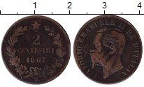 Изображение Монеты Европа Италия 2 сентесимо 1867 Медь VF