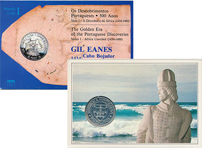 Изображение Подарочные монеты Европа Португалия 100 эскудо 1987 Серебро UNC
