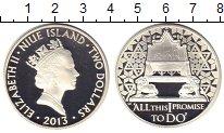 Изображение Монеты Новая Зеландия Ниуэ 2 доллара 2013 Серебро Proof