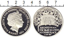 Изображение Монеты Фолклендские острова 5 фунтов 2013 Серебро Proof Елизавета II.