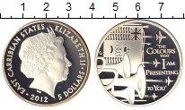Изображение Монеты Великобритания Карибы 5 долларов 2012 Серебро Proof