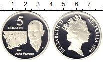 Изображение Монеты Австралия 5 долларов 1994 Серебро Proof- Джон Форрест.